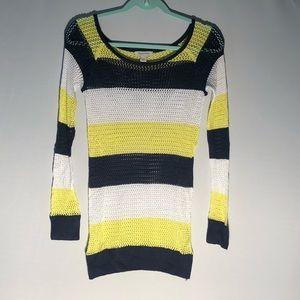 3/$20 Boston Proper Stripped Netted Sweater